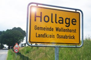 Ortsschild von Hollage. Symbolfoto: Rothermundt / Wallenhorster.de