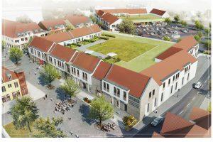 """Entwurf zum Projekt """"Neue Mitte Wallenhorst"""". Grafik RKW / HBB"""
