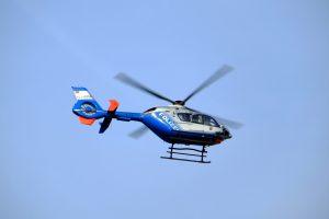 Die Polizei per Hubschrauber im Einsatz. © Symbolfoto: Pixabay / music4life
