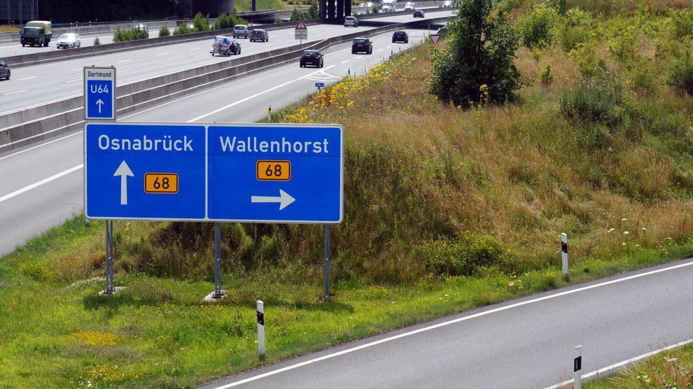 Autobahn 1 und Bundesstraße 68 in Wallenhorst. Hier könnte die A33 anknüpfen. Foto: Rothermundt / Wallenhorster.de