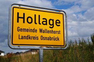 Ortsschild in Hollage. Symbolfoto: Wallenhorster.de