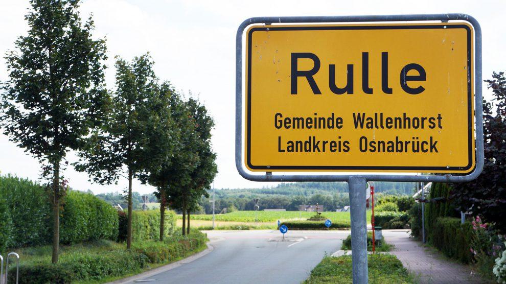 Ortsschild in Rulle. Symbolfoto: Rothermundt / Wallenhorster.de