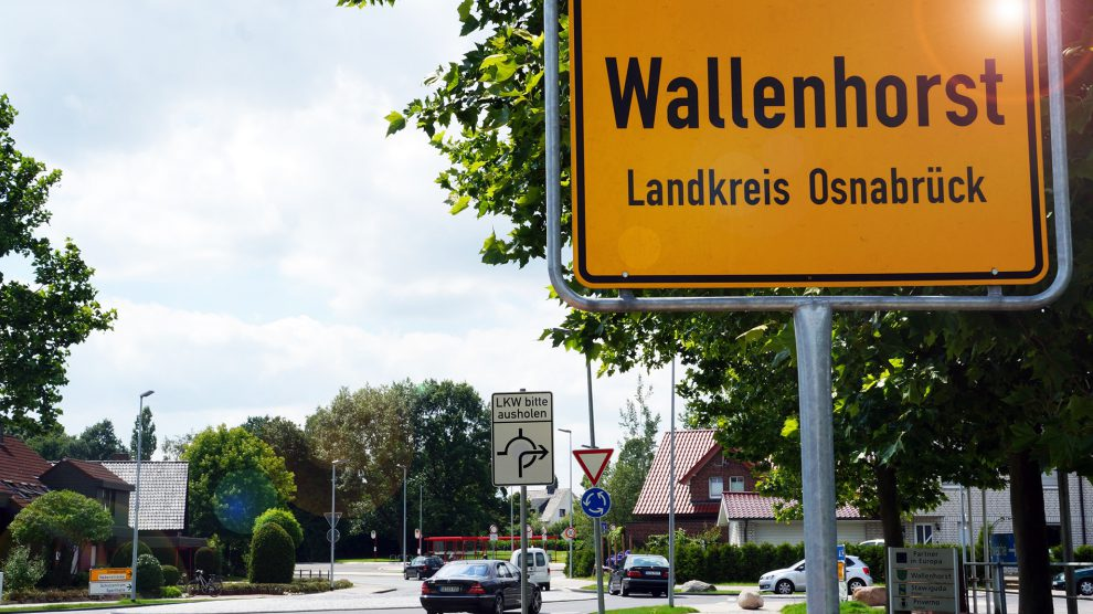 Ortsschild von Wallenhorst. Symbolfoto: Wallenhorster.de