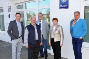 V.l.n.r.: Mark Brockmeyer, Gerd Unterberg, Norbert Hörnschemeyer, Marlene Posnin und Manfred Gretzmann. Foto: CDW Wallenhorst