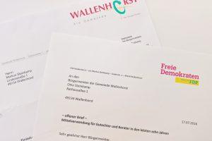 Angestoßen wurde der Dialog durch den offenen Brief der Liberalen. Foto: FDP Wallenhorst