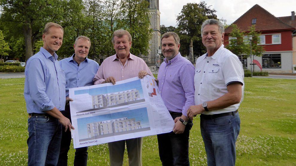 v.l.n.r.: Markus Wiekowski, Martin Lange, Alfons Schwegmann, Guido Pott, Hubert Pohlmann. Foto: SPD Wallenhorst