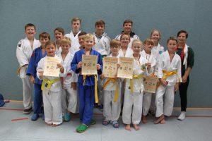 Die erfolgreichen Hollager Judoka bei der Kreismeisterschaft. Foto: Blau-Weiss Hollage e.V.