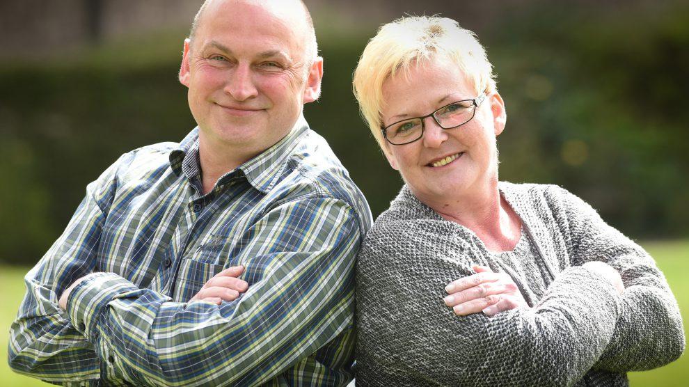 Michael und Monika Riemann für DIE LINKE. Wallenhorst. Foto: DIE LINKE. Wallenhorst