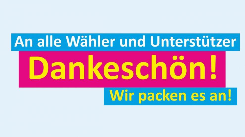 Die Wallenhorster FDP dankt allen Wählern nach der Kommunalwahl 2016. Grafik: FDP Wallenhorst