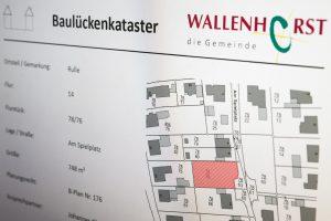 Ausschnitt aus dem Baulückenkataster. Foto: Gemeinde Wallenhorst / Thomas Remme