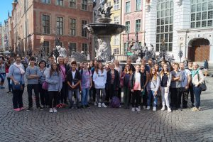 Die Teilnehmer der Thomas-Morus-Schule aus Osnabrück-Haste zu Gast in Olsztyn/Allenstein (Polen). Foto: Thomas-Morus-Schule OS