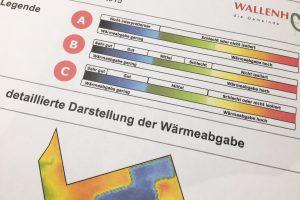 """Ausschnitt aus der """"detaillierten Darstellung der Wärmeabgabe"""" in Wallenhorst. Foto: Wallenhorster.de"""