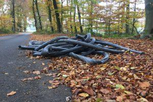 Immer wieder: Illegale Müllentsorgungen entlang der Wiesenstraße in Wallenhorst - Hollage. Foto: Wallenhorster.de