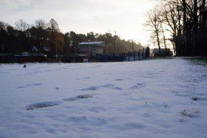 Schnee an der Hollager Schleuse. Foto: Wallenhorster.de