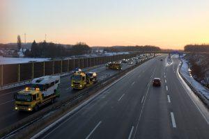 Verkehrsunfall mit mehreren Fahrzeugen und leicht verletzten auf der A1 bei Wallenhorst / Osnabrück-Nord. Foto: Wallenhorster.de