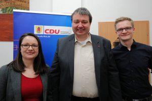 Der neue Vorstand des CDU Ortsverbands Wallenhorst: Nadine Klumpe, Holger Pellmann und Lukas Havliza. Foto: CDU Wallenhorst