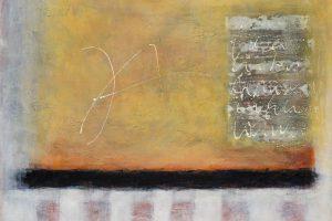 Auch in der Ausstellung zu sehen: Malerei (Ausschnitt) von Annette Piwowarski. Foto: Thomas Remme