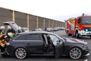Schwerer Verkehrsunfall auf der A1. Foto: Polizeiinspektion Osnabrück/ots