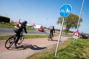 Eine einheitliche Verkehrsführung in den Kreisverkehren steht ganz oben auf der Wunschliste der Wallenhorster Radfahrer. Foto: Thomas Remme