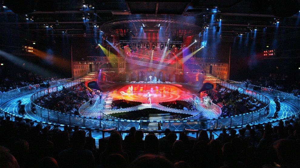Ein Blick ins Starlight-Express-Theater Bochum. Foto: Jens Hauer / Starlight Express