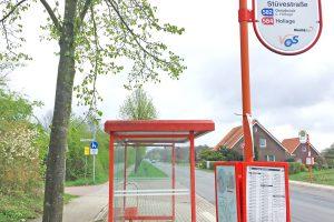 Eine Bushaltestelle in Wallenhorst. Foto: Rothermundt / Wallenhorster.de