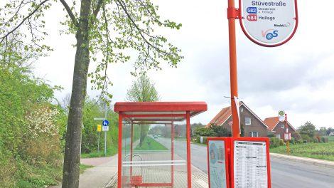 Eine Bushaltestelle in Wallenhorst. Foto: Wallenhorster.de