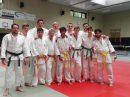 Das Team von Blau-Weiss Hollage am letzten Kampftag der Judo Bezirksliga Saison 2017 in Wietmarschen. Foto: Blau-Weiss Hollage