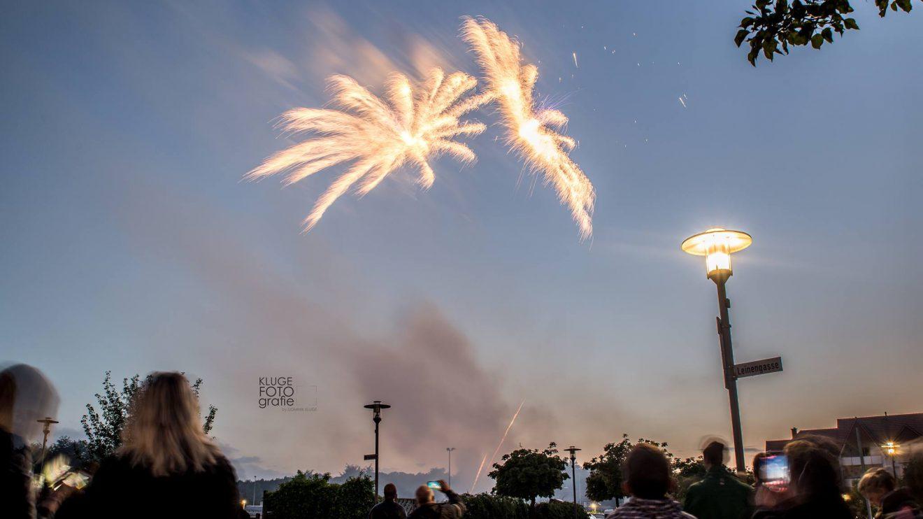 Ein tolles Feuerwerk gab es zum großen Jubiläum der 50. Wallenhorster Klib am Freitagabend. Fotos: KLUGE fotografie