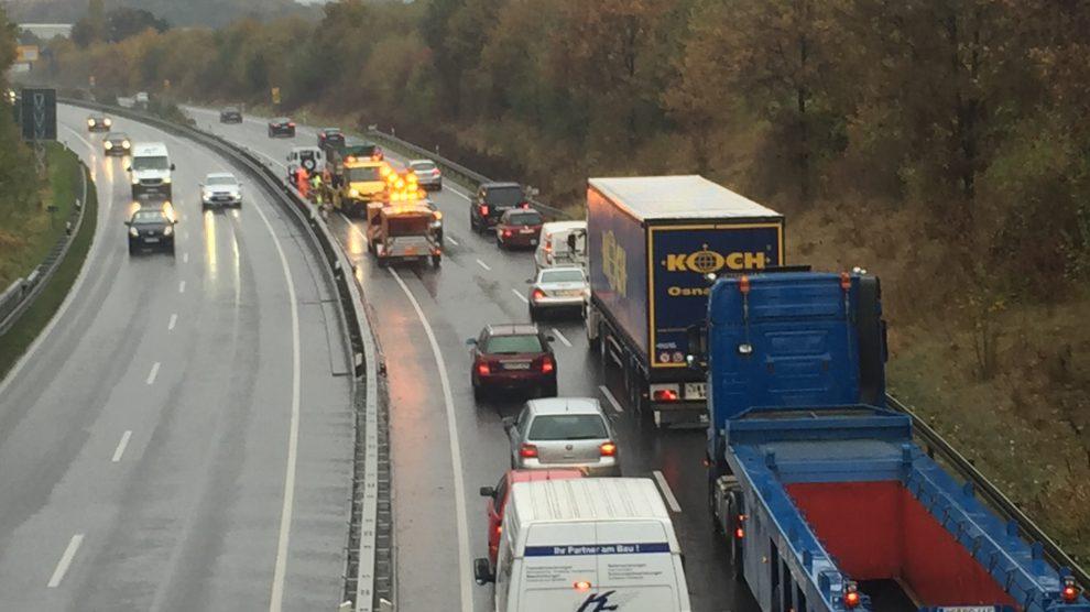 Verkehrsunfall auf der B68 bei Wallenhorst. Archivfoto: Wallenhorster.de