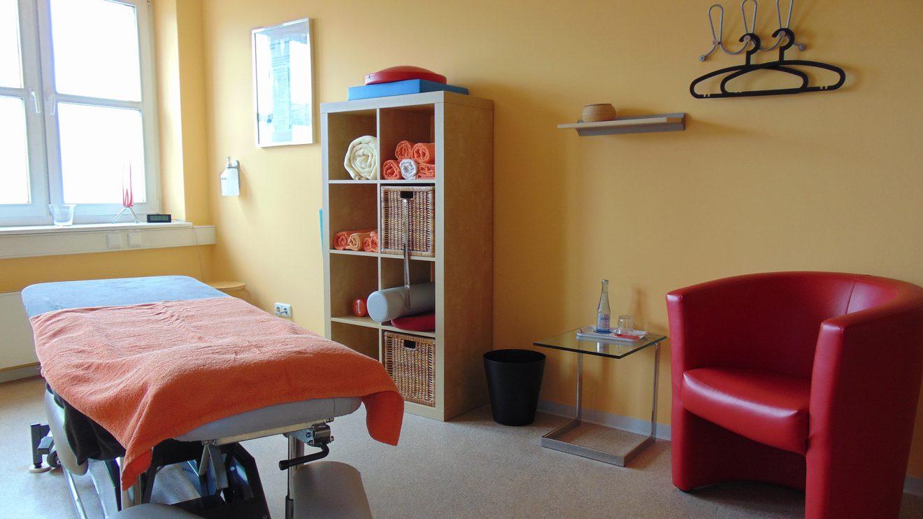 Ein Behandlungsraum der Ganzheitlichen integrativen Physiotherapie in Wallenhorst. Foto: GiP Wallenhorst