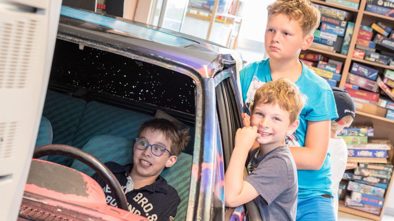 Ein Klassiker im JAB2: Videogames im Auto. Foto: Thomas Remme