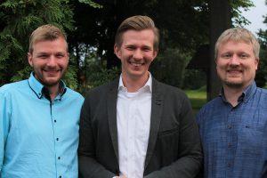 v.l.n.r.: Daniel Eling, Matthias Seestern-Pauly, Markus Steinkamp. Foto: FDP Wallenhorst
