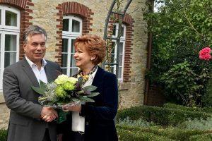 Clemens Lammerskitten mit Barbara Havliza aus Wallenhorst, der vielleicht zukünftigen Justizministerin für Niedersachsen. Foto: Wahlkreisbüro Lammerskitten