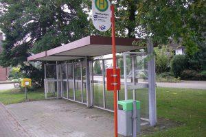 Gegen Höchstgebot gibt die Gemeinde Wallenhorst die Buswartehalle am Heuftgraben samt Pflasterung ab. Foto: Gemeinde Wallenhorst