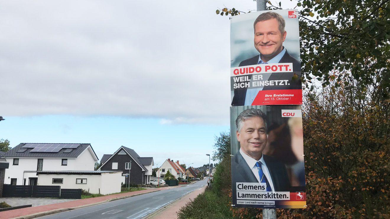 Die Kontrahenten um das Direktmandat im Wahlkreis 75: Guido Pott oben auf, darunter Clemens Lammerskitten. Foto: Wallenhorster.de