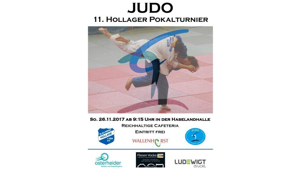 Das 11. Hollager Pokalturnier im Judo findet am 26.11.2017 in der Haselandhalle statt. Foto: Blau-Weiss Hollage