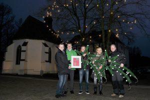 Neuer Glanz und diesmal zudem energiesparend: Die Beleuchtung auf dem Wallenhorster Weihnachtsmarkt. Foto: PR