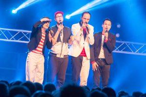 Ausgezeichnete Vokalartisten (von links): Oliver Gies, Lukas Teske, Sebastian Schröder und Jan Bürger. Foto: Thomas Remme