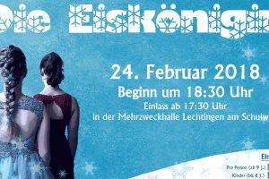 """Die Abteilung Dance der Sportfreunde Lechtingen e.V. führen das Musical """"Die Eiskönigin"""" im Februar 2018 auf. Foto: SF Lechtingen / Dance"""