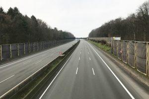 So ruhig und leer ist die A1 bei Wallenhorst nur aufgrund der aktuellen Vollsperrung zwischen Bramsche und dem Lotter Kreuz. Foto: Wallenhorster.de