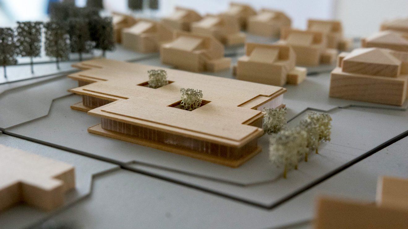 Das Modell des Krippenhauses. Foto: Gemeinde Wallenhorst / André Thöle