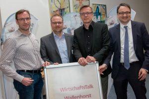 Die Gastgeber (von links): Stefan Ludwig, Wirtschaftsförderer Frank Jansing, Bürgermeister Otto Steinkamp und Stephan Beume. Foto:André Thöle