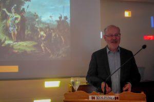 Joseph Rottmann informiert über Neuigkeiten aus Museum und Park Kalkriese. Foto:Ursula Thöle