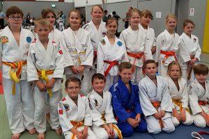 Das Jungen Team von BW Hollage und die Kampfgemeinschaft Judo Crocodiles Osnabrück / BW Hollage. Foto: BW Hollage