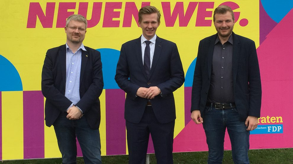 von links: Markus Steinkamp, Matthias Seestern-Pauly und Daniel Eling. Foto: Felix Bensmann