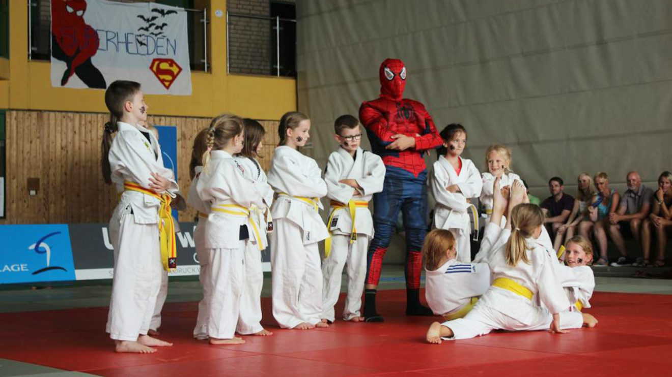 "Das Hollager Judo Camp 2018 stand unter dem Motto ""Superhelden"". Foto: Blau-Weiss Hollage"
