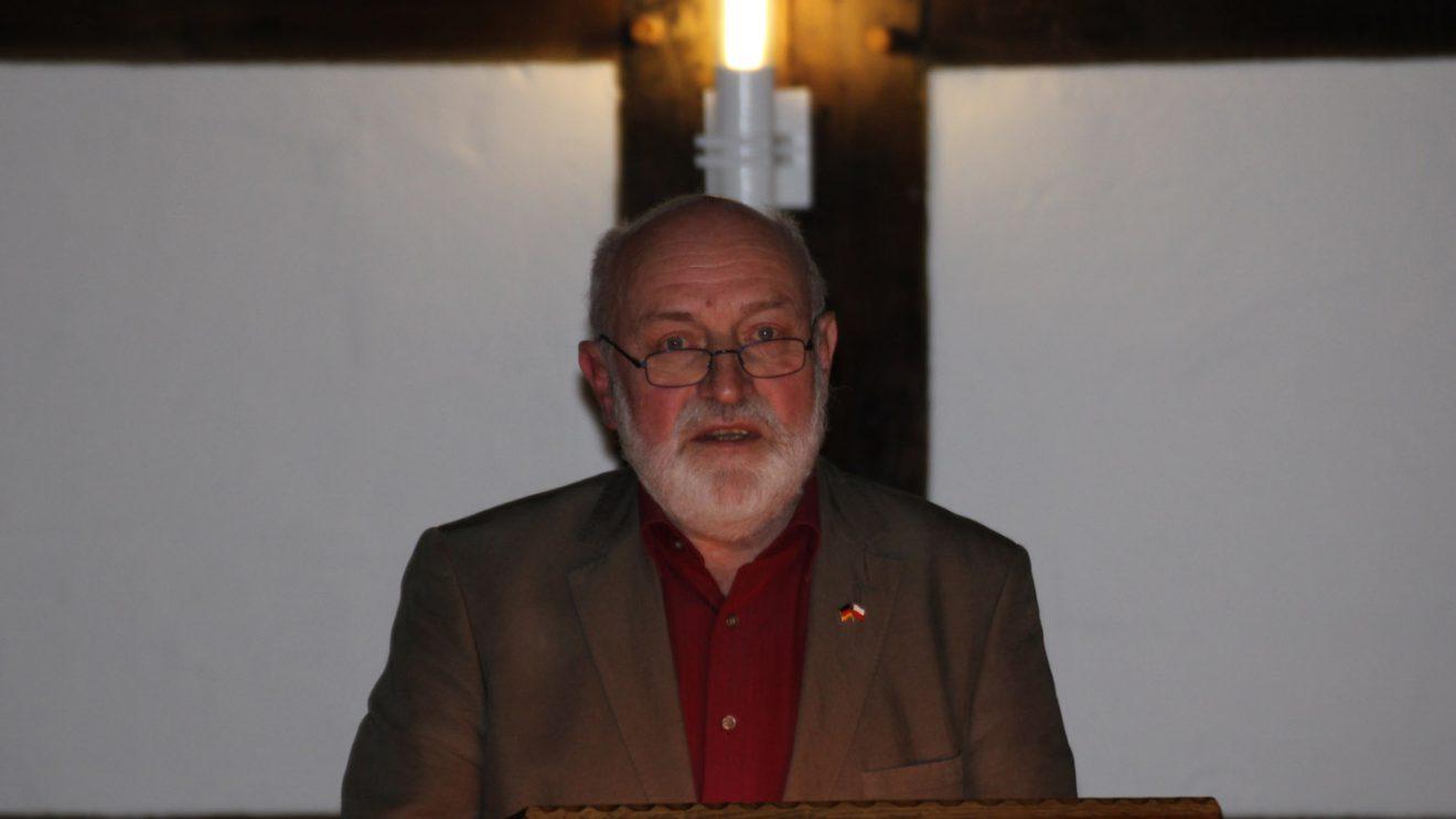 Gerd Maibauer von der Deutsch-Polnischen Gesellschaft der Region Osnabrück. Foto: Dominik Lapp, kulturfeder.de