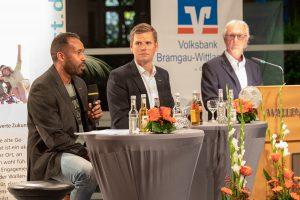 Daniel Thioune, Frank Willenborg und Manfred Glüsenkamp (von links) richten ihren Blick stets auf Lösungen. Foto:Thomas Remme