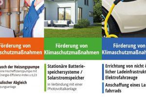 Förderflyer zum Klimaschutz. Foto: Gemeinde Wallenhorst