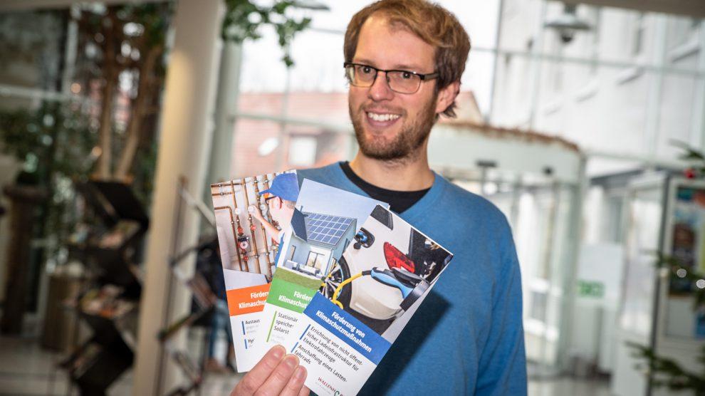 Stefan Sprenger gibt einen Überblick über das Förderprogramm für Klimaschutzmaßnahmen. Foto: Thomas Remme